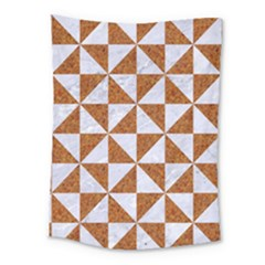 Triangle1 White Marble & Rusted Metal Medium Tapestry