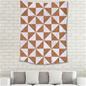 TRIANGLE1 WHITE MARBLE & RUSTED METAL Medium Tapestry View2