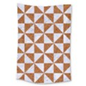TRIANGLE1 WHITE MARBLE & RUSTED METAL Large Tapestry View1