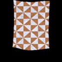 TRIANGLE1 WHITE MARBLE & RUSTED METAL Large Tapestry View2
