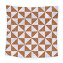 TRIANGLE1 WHITE MARBLE & RUSTED METAL Square Tapestry (Large) View1