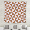 TRIANGLE1 WHITE MARBLE & RUSTED METAL Square Tapestry (Large) View2