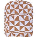 TRIANGLE1 WHITE MARBLE & RUSTED METAL Full Print Backpack View1