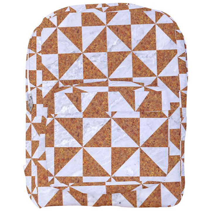 TRIANGLE1 WHITE MARBLE & RUSTED METAL Full Print Backpack
