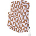 TRIANGLE1 WHITE MARBLE & RUSTED METAL Full Print Backpack View3