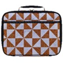TRIANGLE1 WHITE MARBLE & RUSTED METAL Full Print Lunch Bag View1