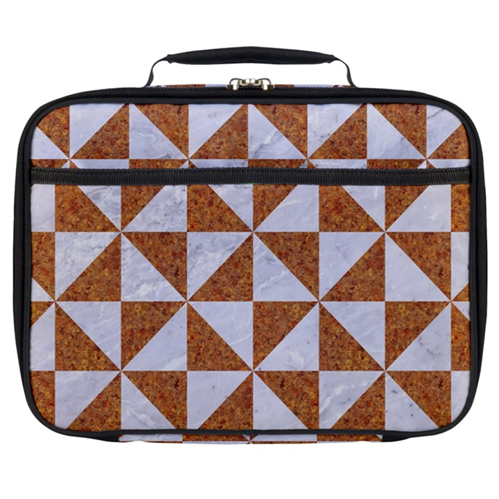 TRIANGLE1 WHITE MARBLE & RUSTED METAL Full Print Lunch Bag