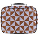 TRIANGLE1 WHITE MARBLE & RUSTED METAL Full Print Lunch Bag View2