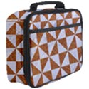 TRIANGLE1 WHITE MARBLE & RUSTED METAL Full Print Lunch Bag View3