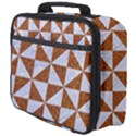 TRIANGLE1 WHITE MARBLE & RUSTED METAL Full Print Lunch Bag View4