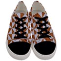 TRIANGLE1 WHITE MARBLE & RUSTED METAL Men s Low Top Canvas Sneakers View1