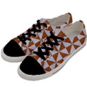 TRIANGLE1 WHITE MARBLE & RUSTED METAL Men s Low Top Canvas Sneakers View2