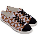 TRIANGLE1 WHITE MARBLE & RUSTED METAL Men s Low Top Canvas Sneakers View3