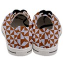 TRIANGLE1 WHITE MARBLE & RUSTED METAL Men s Low Top Canvas Sneakers View4