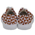 TRIANGLE1 WHITE MARBLE & RUSTED METAL Kids  Low Top Canvas Sneakers View4