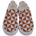 TRIANGLE1 WHITE MARBLE & RUSTED METAL Men s Canvas Slip Ons View1