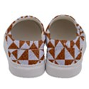 TRIANGLE1 WHITE MARBLE & RUSTED METAL Men s Canvas Slip Ons View4