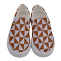 TRIANGLE1 WHITE MARBLE & RUSTED METAL Women s Canvas Slip Ons View1