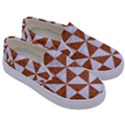 TRIANGLE1 WHITE MARBLE & RUSTED METAL Kids  Canvas Slip Ons View3