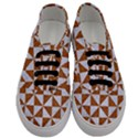 TRIANGLE1 WHITE MARBLE & RUSTED METAL Men s Classic Low Top Sneakers View1
