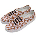TRIANGLE1 WHITE MARBLE & RUSTED METAL Women s Classic Low Top Sneakers View2