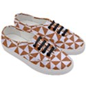 TRIANGLE1 WHITE MARBLE & RUSTED METAL Women s Classic Low Top Sneakers View3