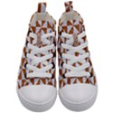 TRIANGLE1 WHITE MARBLE & RUSTED METAL Kid s Mid-Top Canvas Sneakers View1