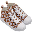TRIANGLE1 WHITE MARBLE & RUSTED METAL Kid s Mid-Top Canvas Sneakers View3