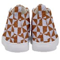 TRIANGLE1 WHITE MARBLE & RUSTED METAL Kid s Mid-Top Canvas Sneakers View4
