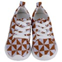 TRIANGLE1 WHITE MARBLE & RUSTED METAL Kids  Lightweight Sports Shoes View1