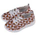 TRIANGLE1 WHITE MARBLE & RUSTED METAL Kids  Lightweight Sports Shoes View2