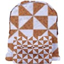 TRIANGLE1 WHITE MARBLE & RUSTED METAL Giant Full Print Backpack View1