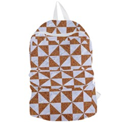Triangle1 White Marble & Rusted Metal Foldable Lightweight Backpack