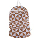 TRIANGLE1 WHITE MARBLE & RUSTED METAL Foldable Lightweight Backpack View1