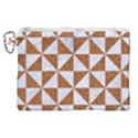 TRIANGLE1 WHITE MARBLE & RUSTED METAL Canvas Cosmetic Bag (XL) View1