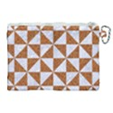 TRIANGLE1 WHITE MARBLE & RUSTED METAL Canvas Cosmetic Bag (XL) View2