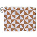 TRIANGLE1 WHITE MARBLE & RUSTED METAL Canvas Cosmetic Bag (XXL) View1