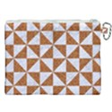 TRIANGLE1 WHITE MARBLE & RUSTED METAL Canvas Cosmetic Bag (XXL) View2