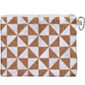 TRIANGLE1 WHITE MARBLE & RUSTED METAL Canvas Cosmetic Bag (XXXL) View2