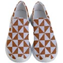 TRIANGLE1 WHITE MARBLE & RUSTED METAL Women s Lightweight Slip Ons View1