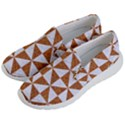 TRIANGLE1 WHITE MARBLE & RUSTED METAL Women s Lightweight Slip Ons View2