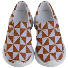 Triangle1 White Marble & Rusted Metal Kid s Lightweight Slip Ons