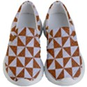 TRIANGLE1 WHITE MARBLE & RUSTED METAL Kid s Lightweight Slip Ons View1