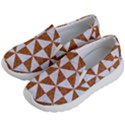 TRIANGLE1 WHITE MARBLE & RUSTED METAL Kid s Lightweight Slip Ons View2