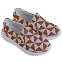 TRIANGLE1 WHITE MARBLE & RUSTED METAL Kid s Lightweight Slip Ons View3