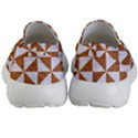 TRIANGLE1 WHITE MARBLE & RUSTED METAL Kid s Lightweight Slip Ons View4
