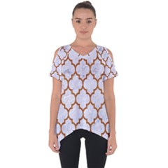 Tile1 White Marble & Rusted Metal (r) Cut Out Side Drop Tee