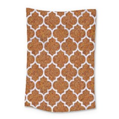Tile1 White Marble & Rusted Metal Small Tapestry