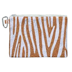 Skin4 White Marble & Rusted Metal (r) Canvas Cosmetic Bag (xl)