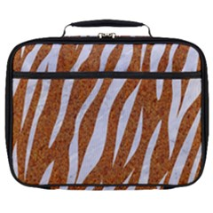 Skin3 White Marble & Rusted Metal Full Print Lunch Bag